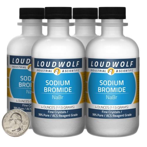 Sodium Bromide - 1 Pound in 4 Bottles