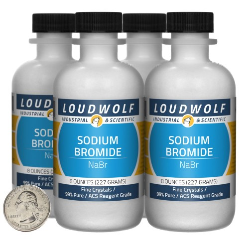 Sodium Bromide - 2 Pounds in 4 Bottles