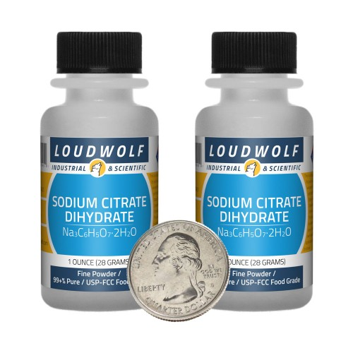 Sodium Citrate Dihydrate - 2 Ounces in 2 Bottles