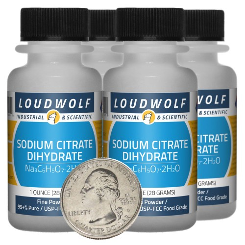 Sodium Citrate Dihydrate - 4 Ounces in 4 Bottles