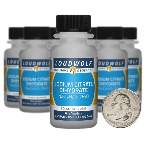 Sodium Citrate Dihydrate - 10 Ounces in 10 Bottles