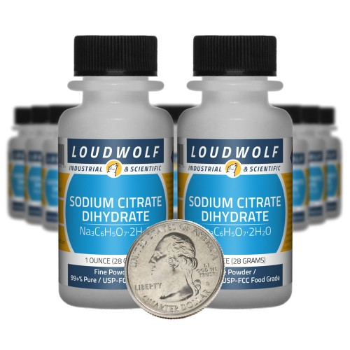 Sodium Citrate Dihydrate - 1.3 Pounds in 20 Bottles