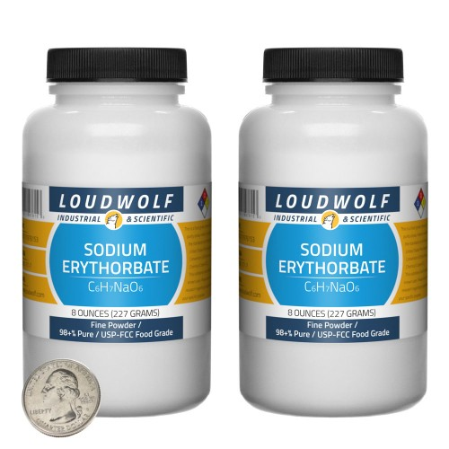 Sodium Erythorbate - 1 Pound in 2 Bottles