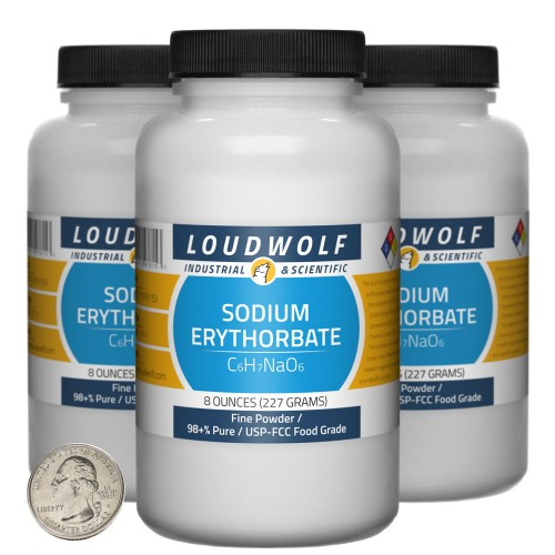 Sodium Erythorbate - 1.5 Pounds in 3 Bottles
