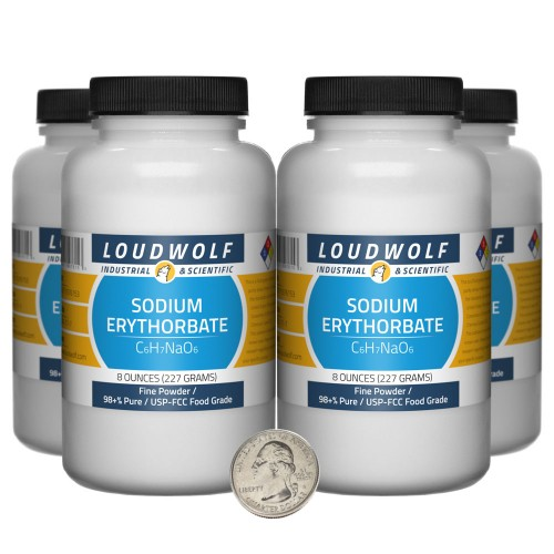 Sodium Erythorbate - 2 Pounds in 4 Bottles