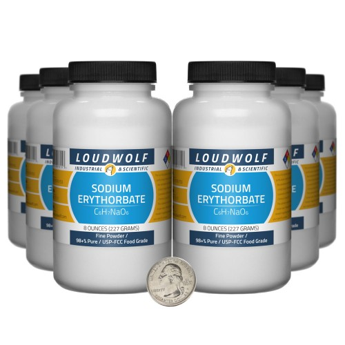 Sodium Erythorbate - 3 Pounds in 6 Bottles