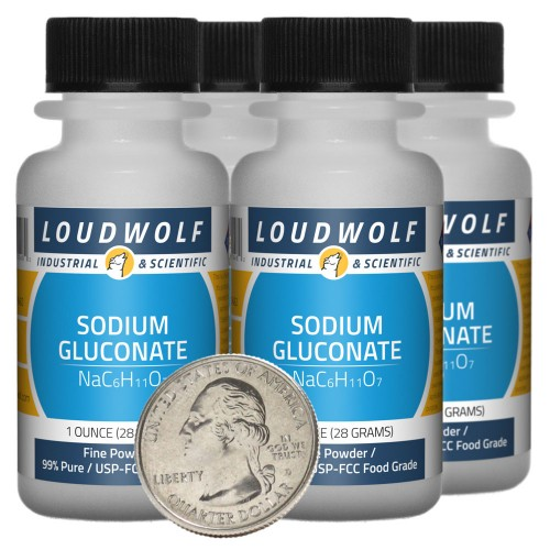 Sodium Gluconate - 4 Ounces in 4 Bottles