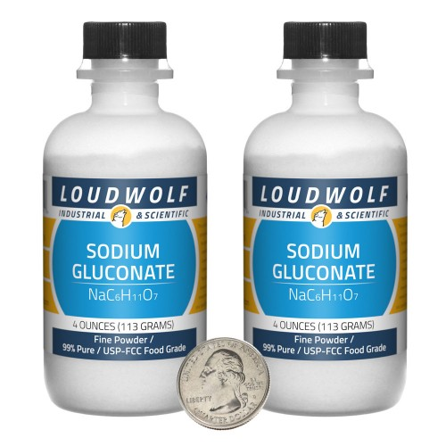 Sodium Gluconate - 8 Ounces in 2 Bottles