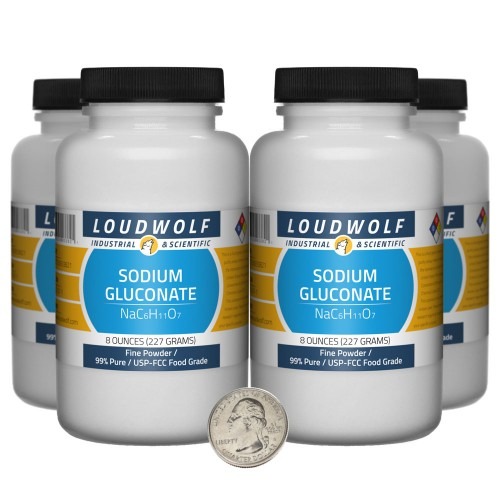 Sodium Gluconate - 2 Pounds in 4 Bottles