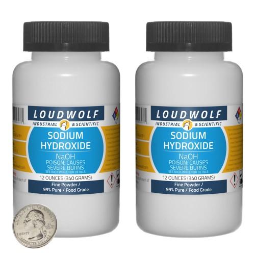 Sodium Hydroxide - 1.5 Pounds in 2 Bottles