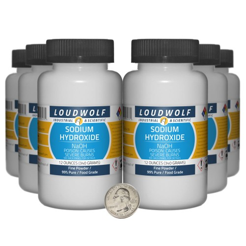 Sodium Hydroxide - 4.5 Pounds in 6 Bottles