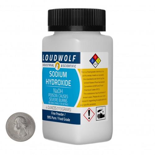 Sodium Hydroxide - 4 Ounces in 1 Bottle