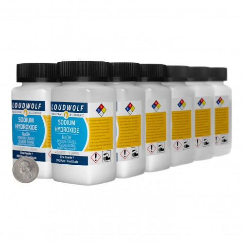 Sodium Hydroxide - 3 Pounds in 12 Bottles