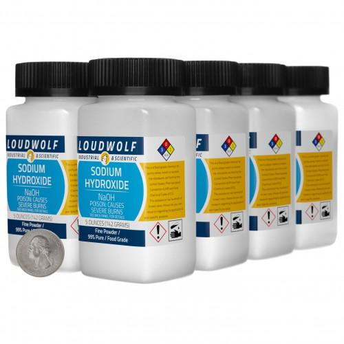 Sodium Hydroxide - 2.5 Pounds in 8 Bottles