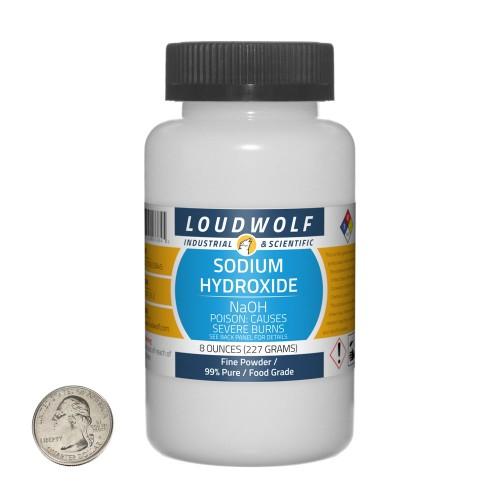 Sodium Hydroxide - 8 Ounces in 1 Bottle