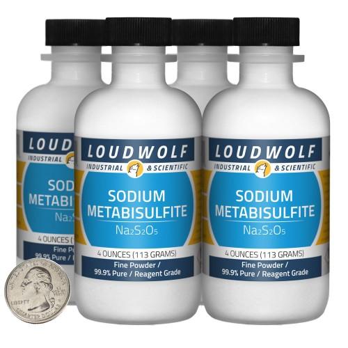 Sodium Metabisulfite - 1 Pound in 4 Bottles