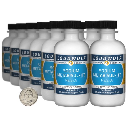 Sodium Metabisulfite - 3 Pounds in 12 Bottles