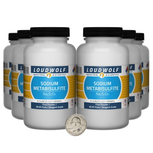 Sodium Metabisulfite - 3 Pounds in 6 Bottles