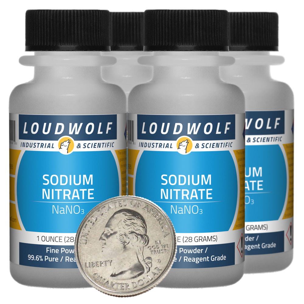 Sodium Nitrate - 4 Ounces in 4 Bottles