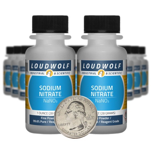 Sodium Nitrate - 1.3 Pounds in 20 Bottles