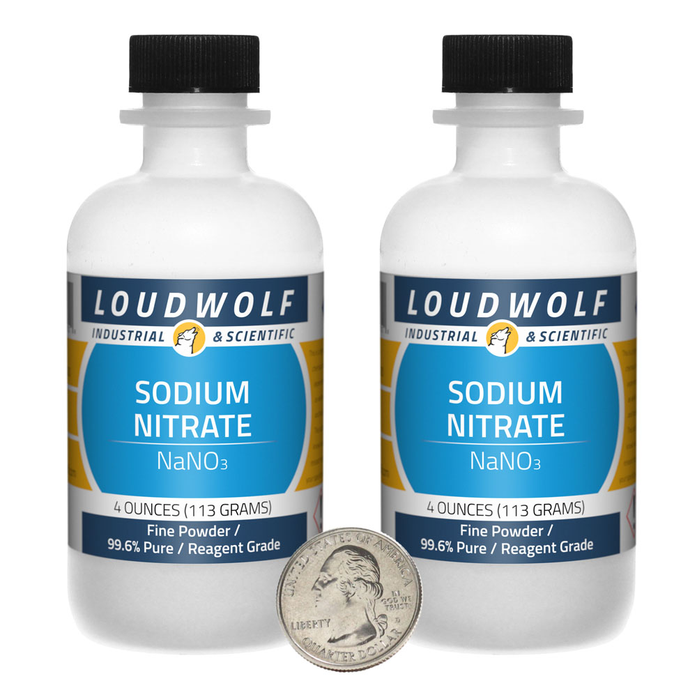 Sodium Nitrate - 8 Ounces in 2 Bottles