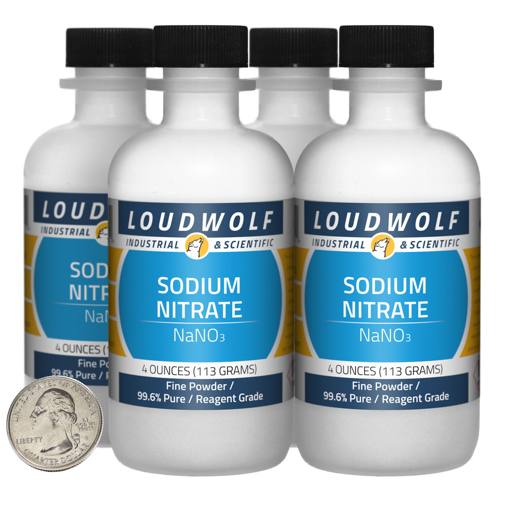 Sodium Nitrate - 1 Pound in 4 Bottles