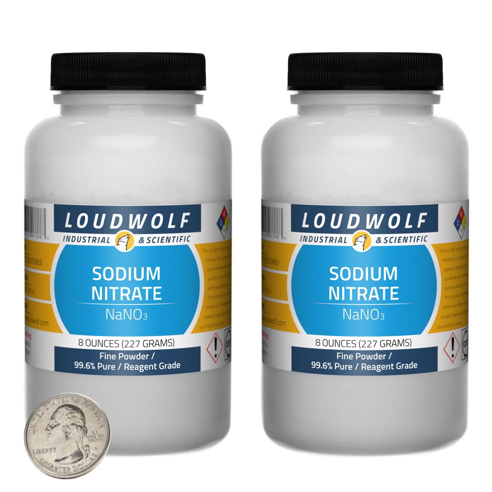 Sodium Nitrate - 1 Pound in 2 Bottles