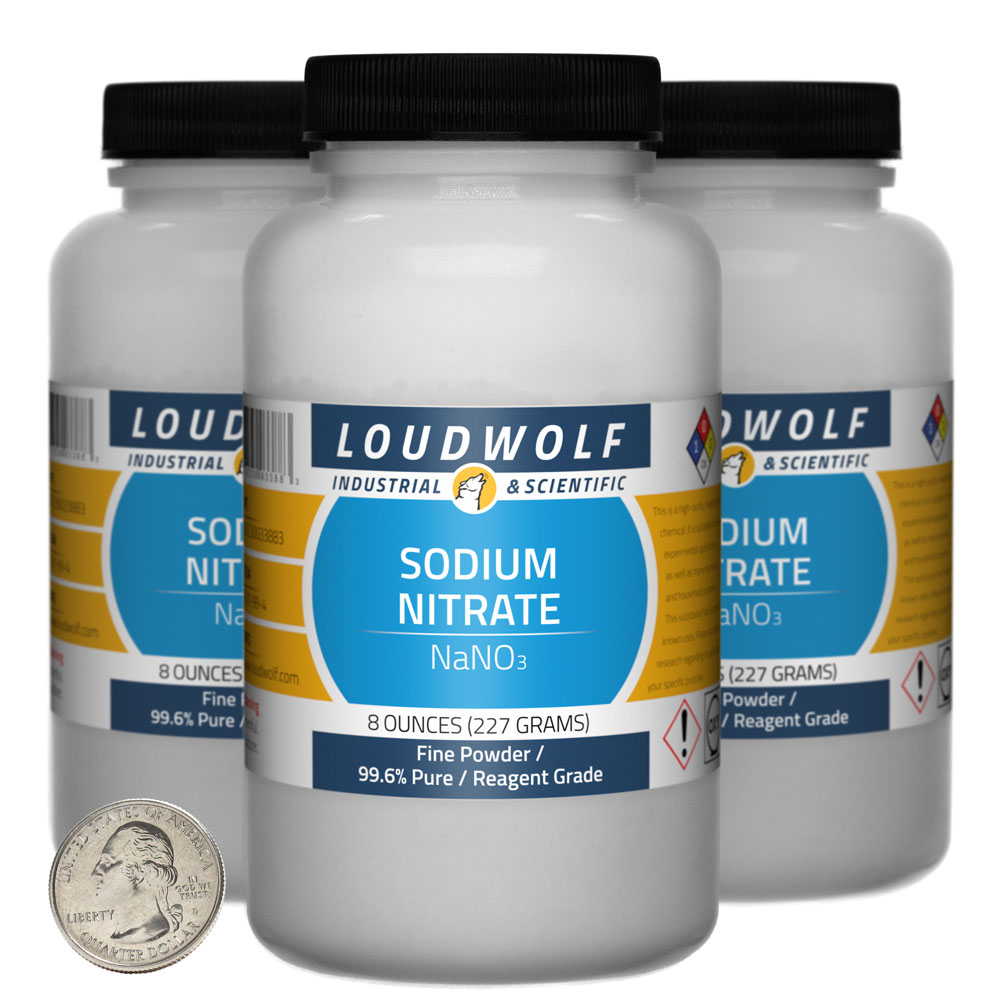 Sodium Nitrate - 1.5 Pounds in 3 Bottles