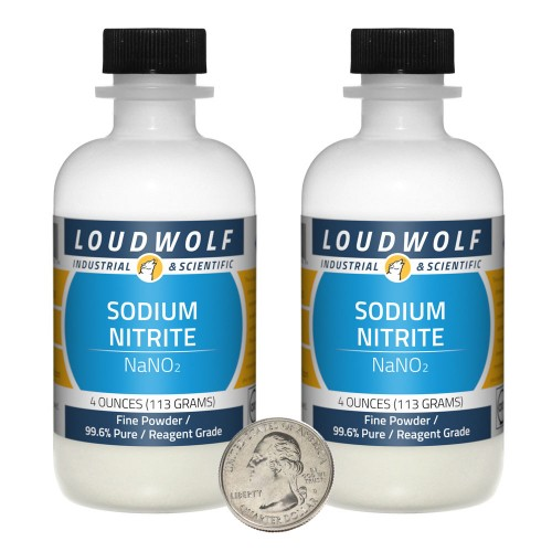 Sodium Nitrite - 8 Ounces in 2 Bottles
