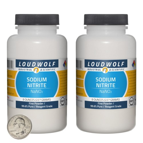 Sodium Nitrite - 1 Pound in 2 Bottles