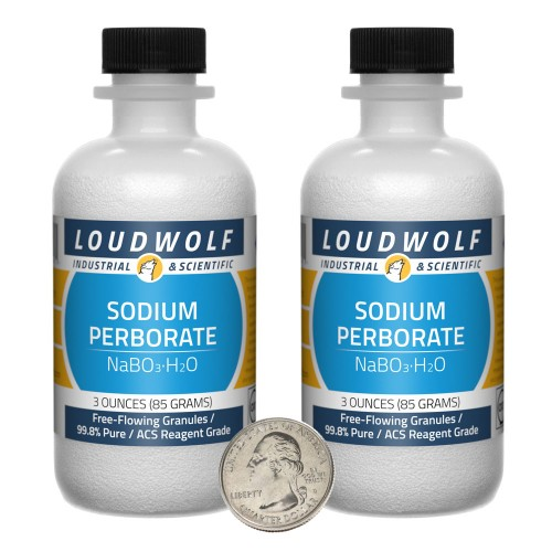 Sodium Perborate - 6 Ounces in 2 Bottles