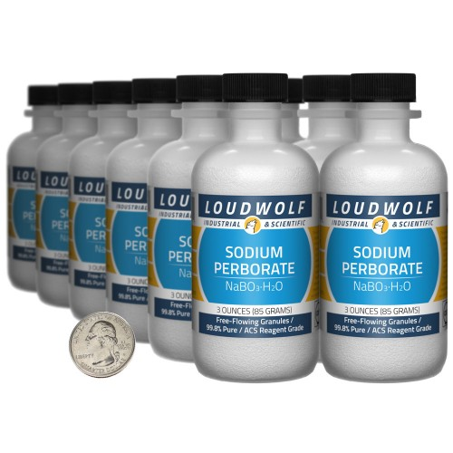 Sodium Perborate - 2.3 Pounds in 12 Bottles