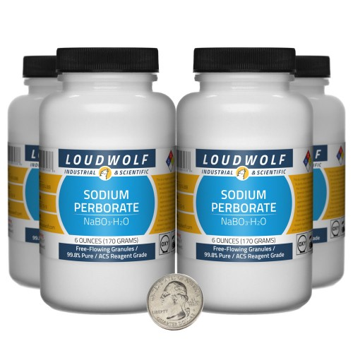 Sodium Perborate - 1.5 Pounds in 4 Bottles
