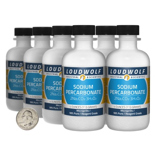 Sodium Percarbonate - 2 Pounds in 8 Bottles