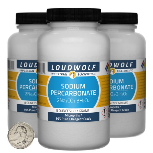 Sodium Percarbonate - 1.5 Pounds in 3 Bottles