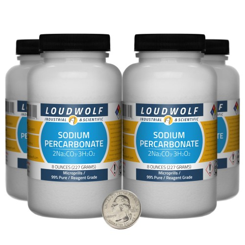 Sodium Percarbonate - 2 Pounds in 4 Bottles