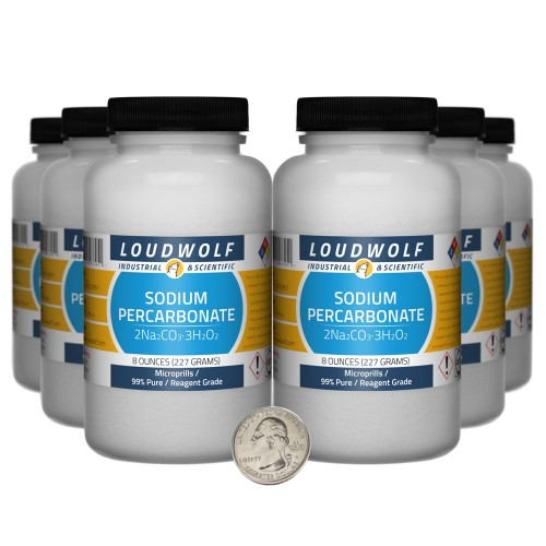 Sodium Percarbonate - 3 Pounds in 6 Bottles