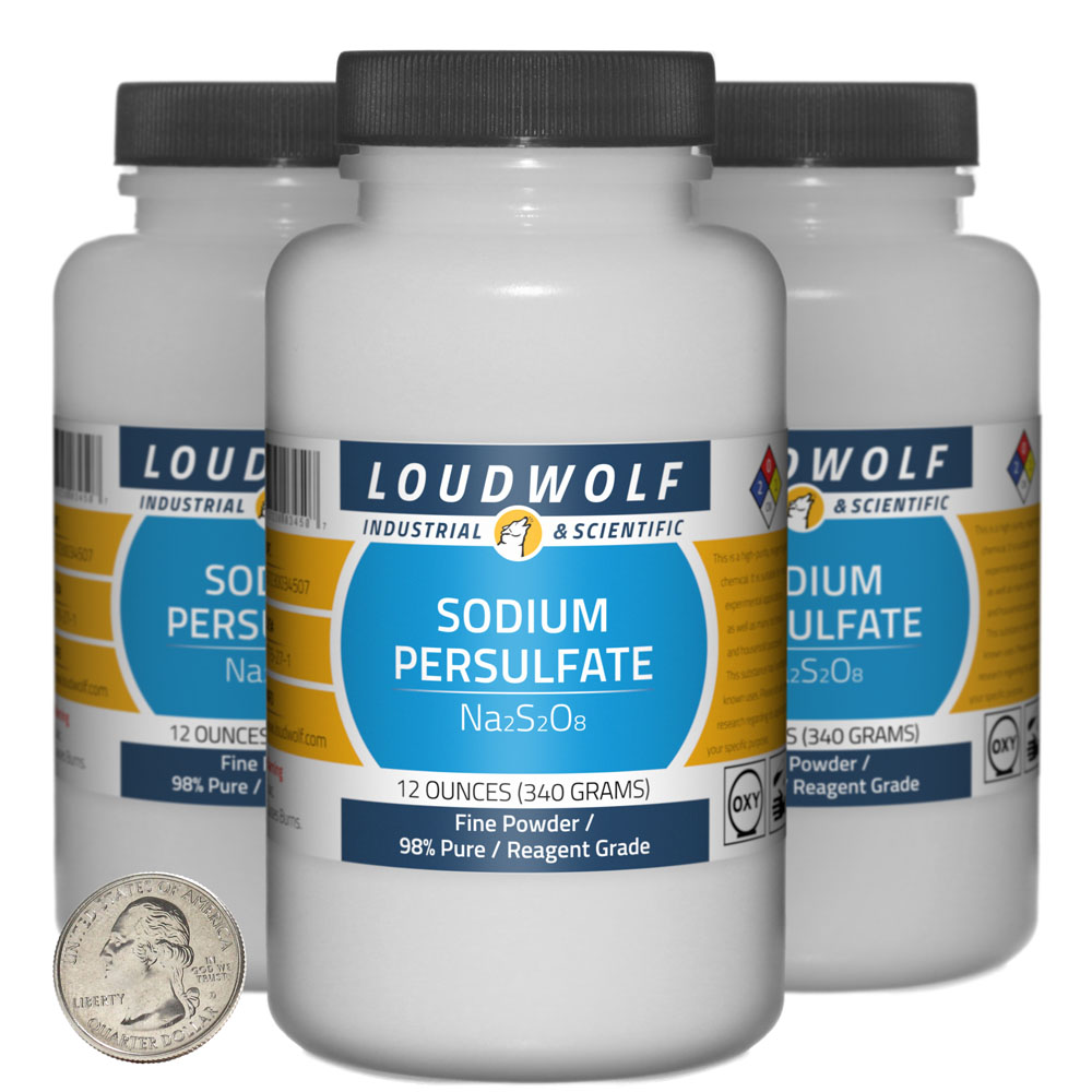 Sodium Persulfate - 2.3 Pounds in 3 Bottles