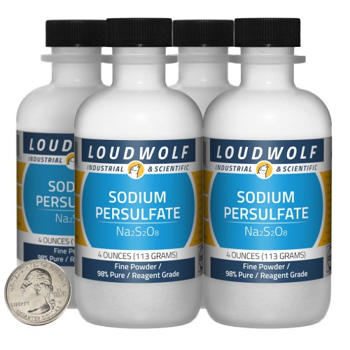 Sodium Persulfate - 1 Pound in 4 Bottles