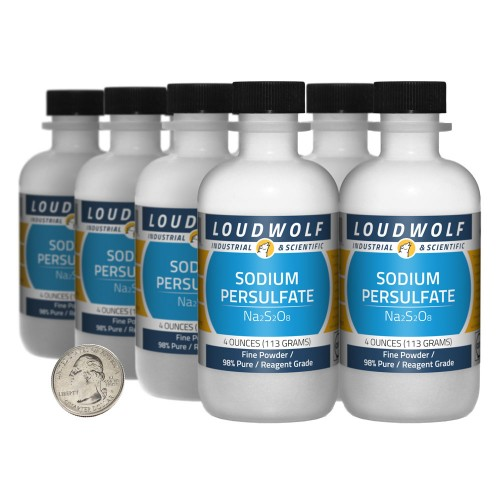 Sodium Persulfate - 2 Pounds in 8 Bottles