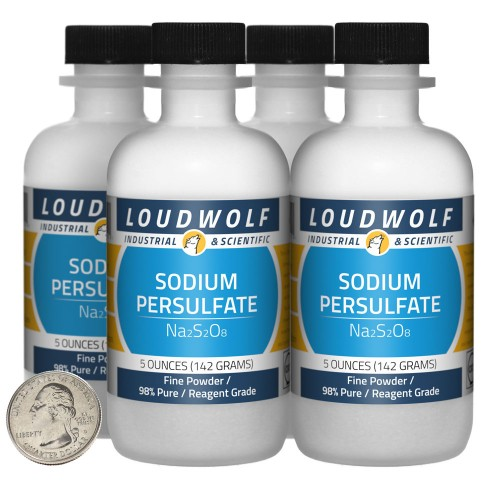 Sodium Persulfate - 1.3 Pounds in 4 Bottles