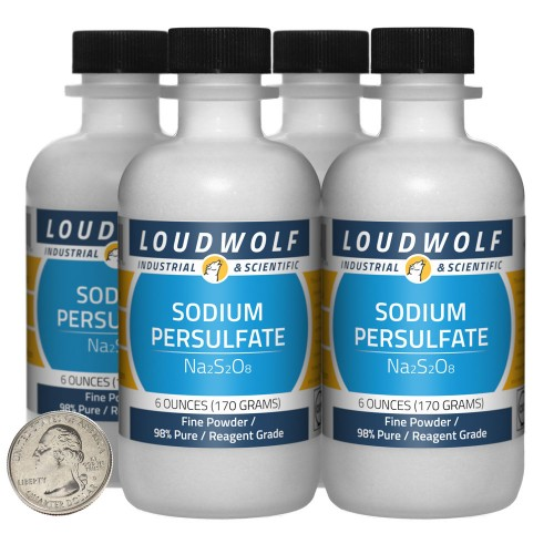 Sodium Persulfate - 1.5 Pounds in 4 Bottles