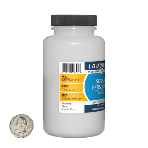 Sodium Persulfate - 8 Ounces in 1 Bottle