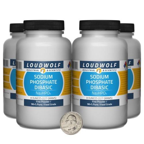 Sodium Phosphate Dibasic - 2 Pounds in 4 Bottles
