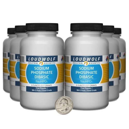 Sodium Phosphate Dibasic - 3 Pounds in 6 Bottles