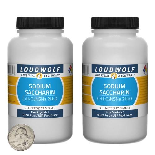 Sodium Saccharin - 1 Pound in 2 Bottles