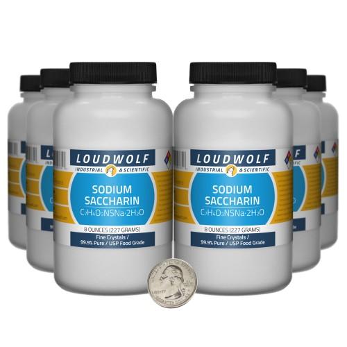 Sodium Saccharin - 3 Pounds in 6 Bottles