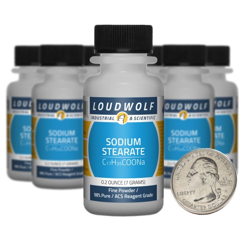 Sodium Stearate - 2.5 Ounces in 10 Bottles