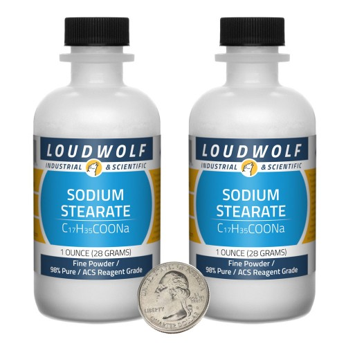 Sodium Stearate - 2 Ounces in 2 Bottles