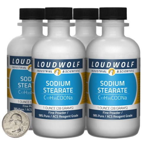 Sodium Stearate - 4 Ounces in 4 Bottles